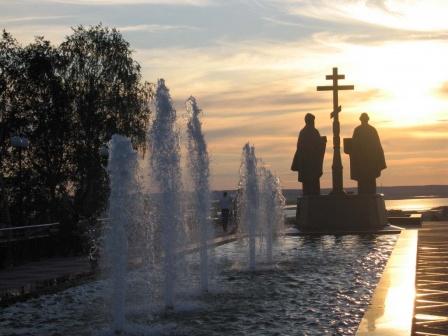 Вечерние фонтаны