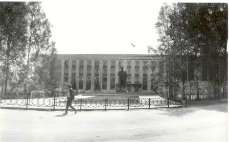Площадь перед зданием Совета. 1989г.