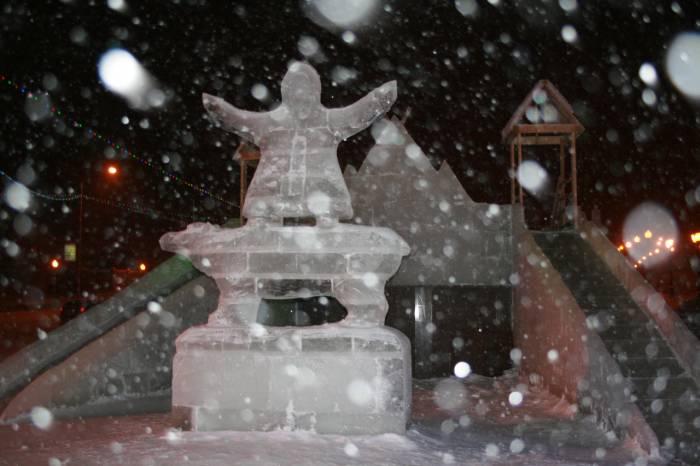 Ледовый городок. Площадь Свободы.