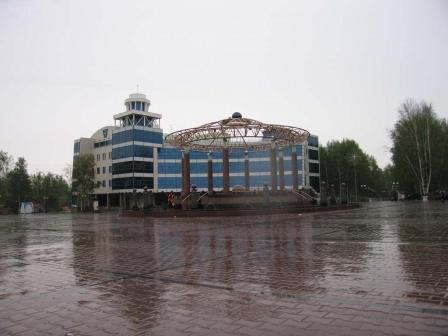 Центральная площадь после дождя